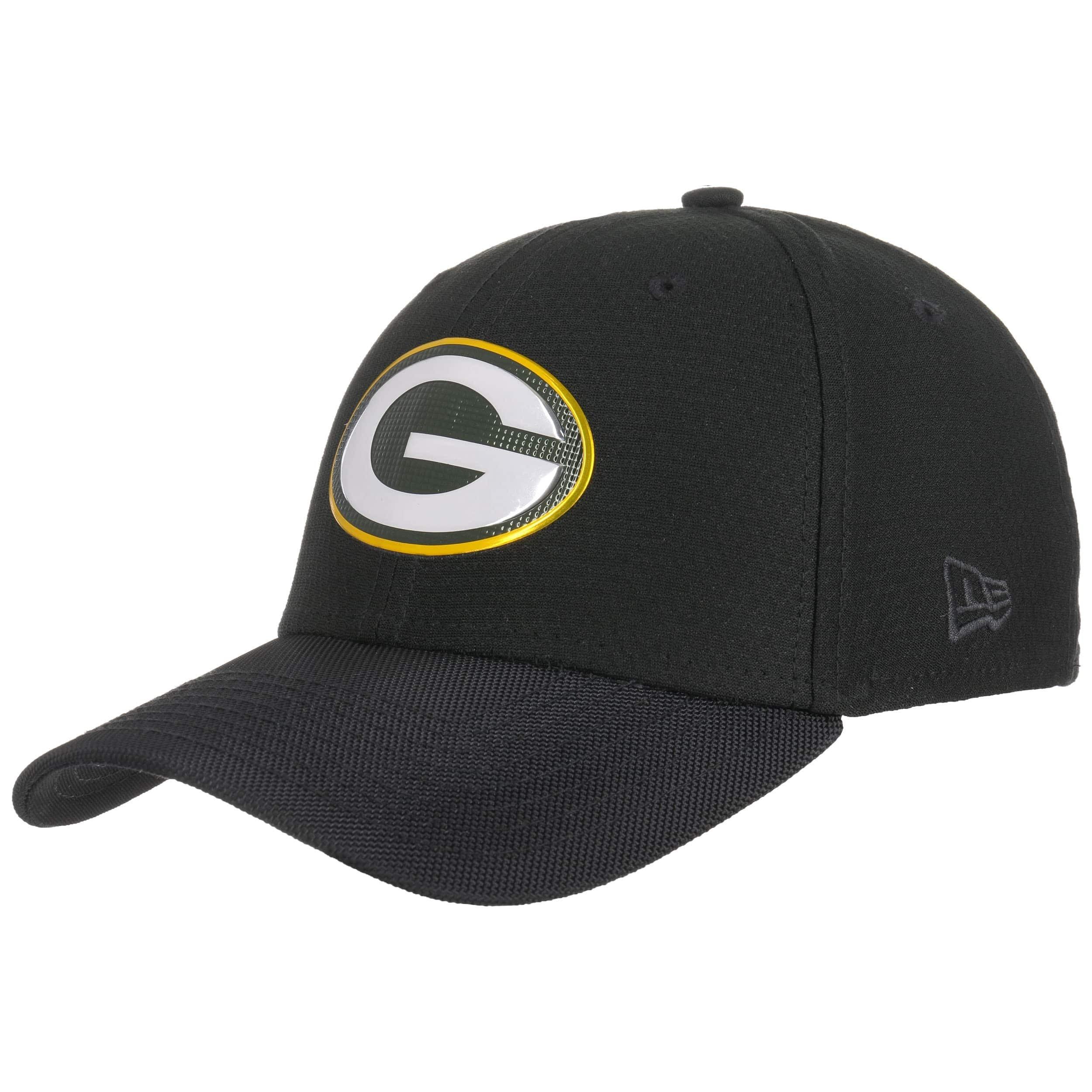 Green Bay Packers Black Base New Era 39Thirty
