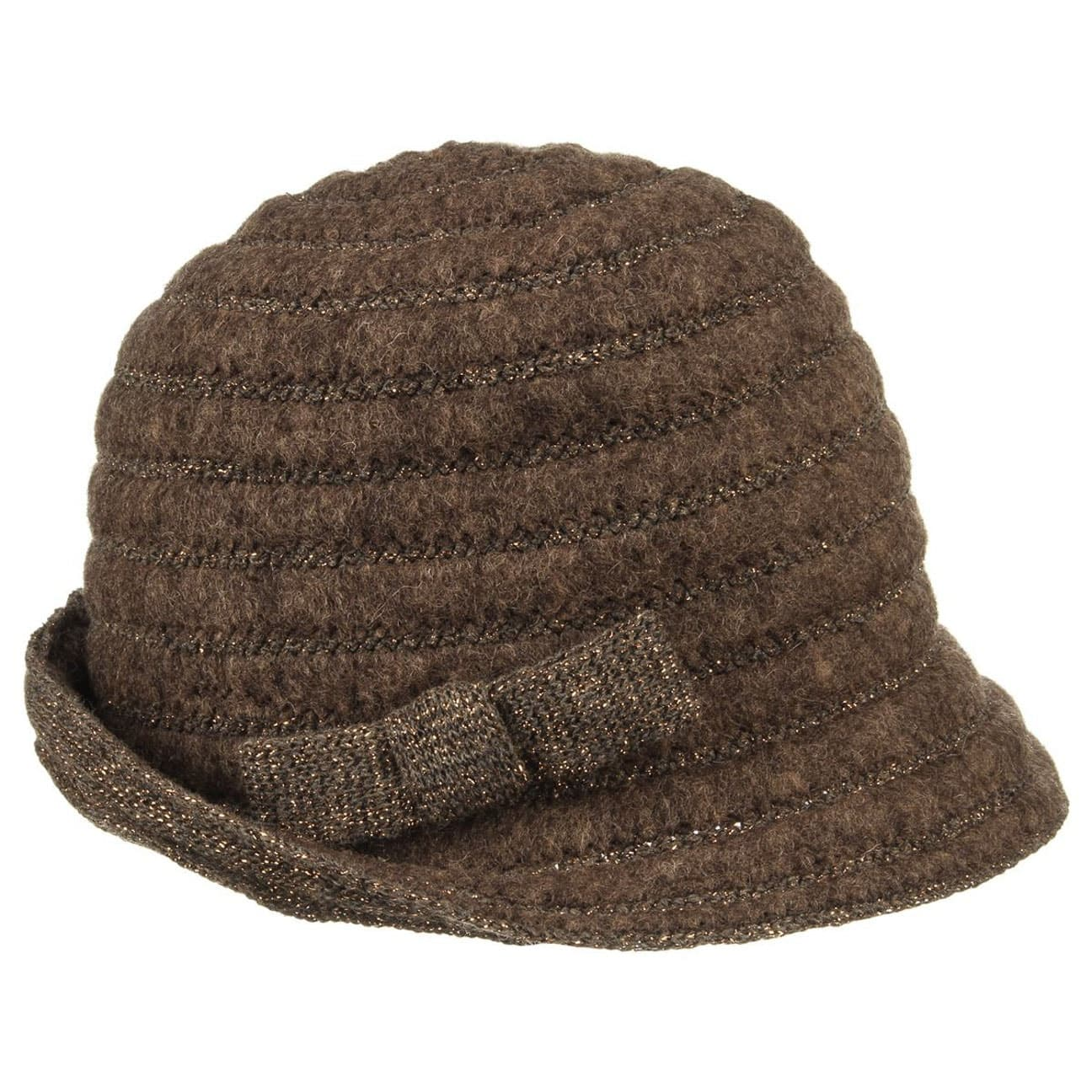 Felt Cloche Hat with Knit Brim by Lierys Floppy hats Lierys WBQ8LY