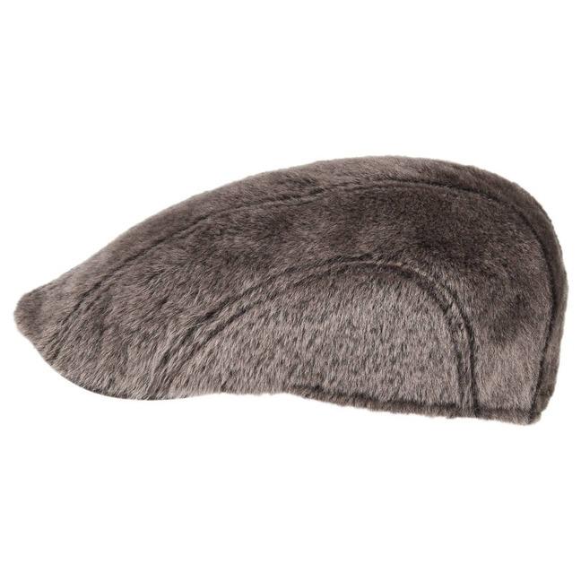 Madison Lamb Fur Flat Cap by Stetson a4c555170a66