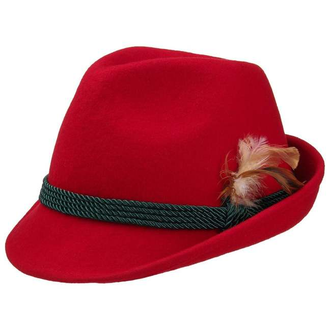 Red Women´s Tyrolean Hat 718145630f8a
