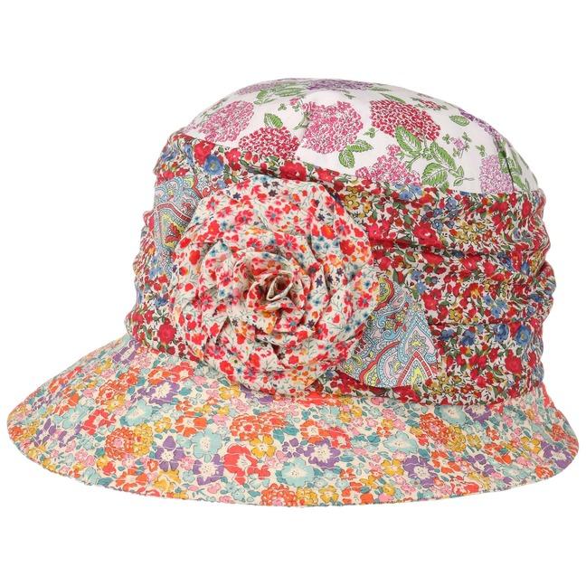 Flower Patchwork Cloche Hat by GREVI 1db733b0ff81