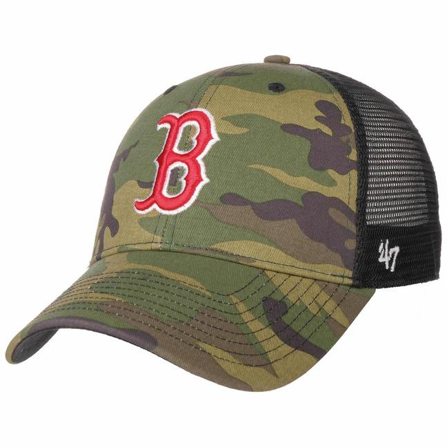 MVP Camo Red Sox Trucker Cap by 47 Brand 96913751744