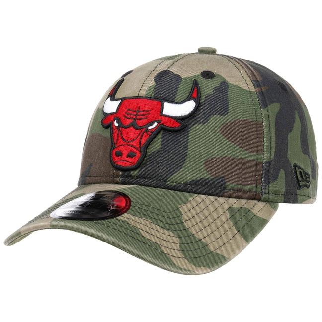 9Forty Wash Camo Bulls Cap by New Era c330f65edb1