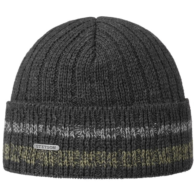 8b9679f4d50 Striped Cuff Wool Beanie by Stetson