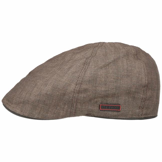 2fc0694d55549 Texas Coated Linen Flat Cap by Stetson