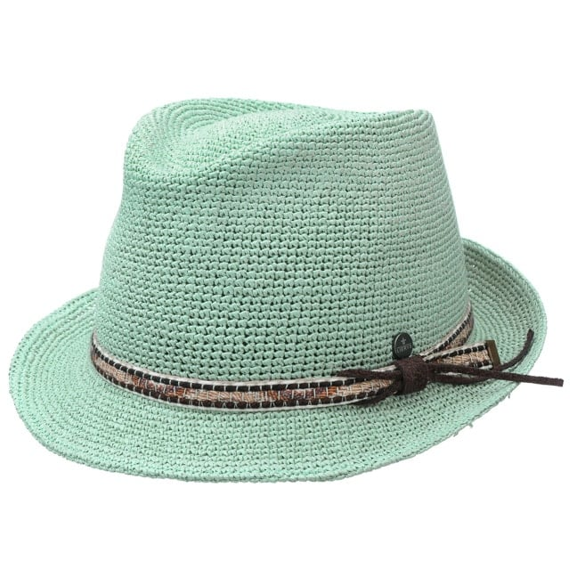 5c9191426ffe8 Crochet Straw Hat with Leather Band. by Lierys