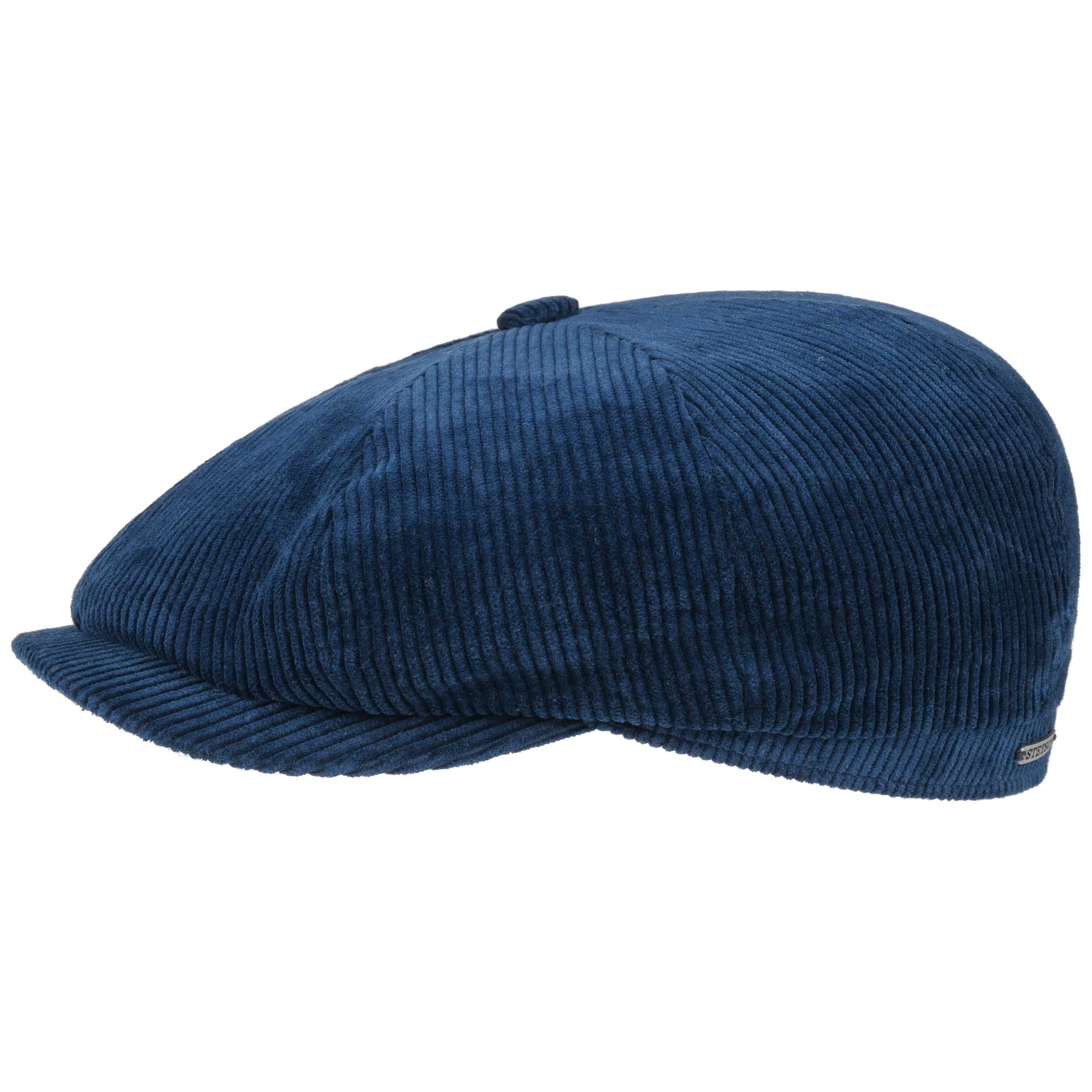 Mens Corduroy Flat Cap Peaked Country Cord Hat Sizes 56 to 62cm