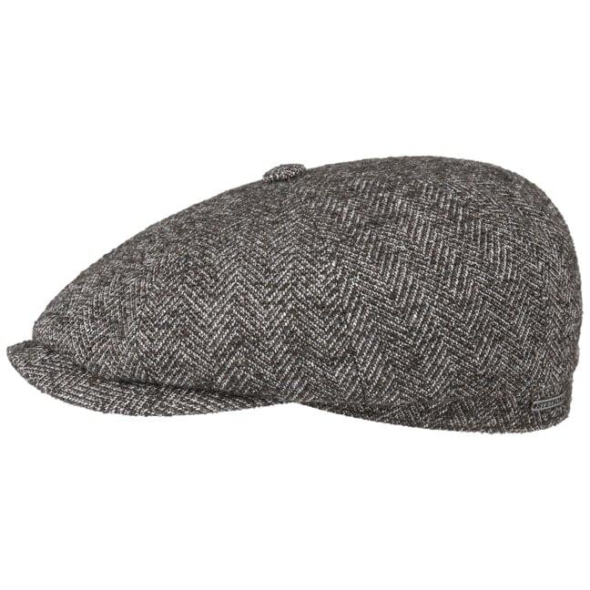 ef17113b90b Hatteras Wool Herringbone Flat Cap. by Stetson