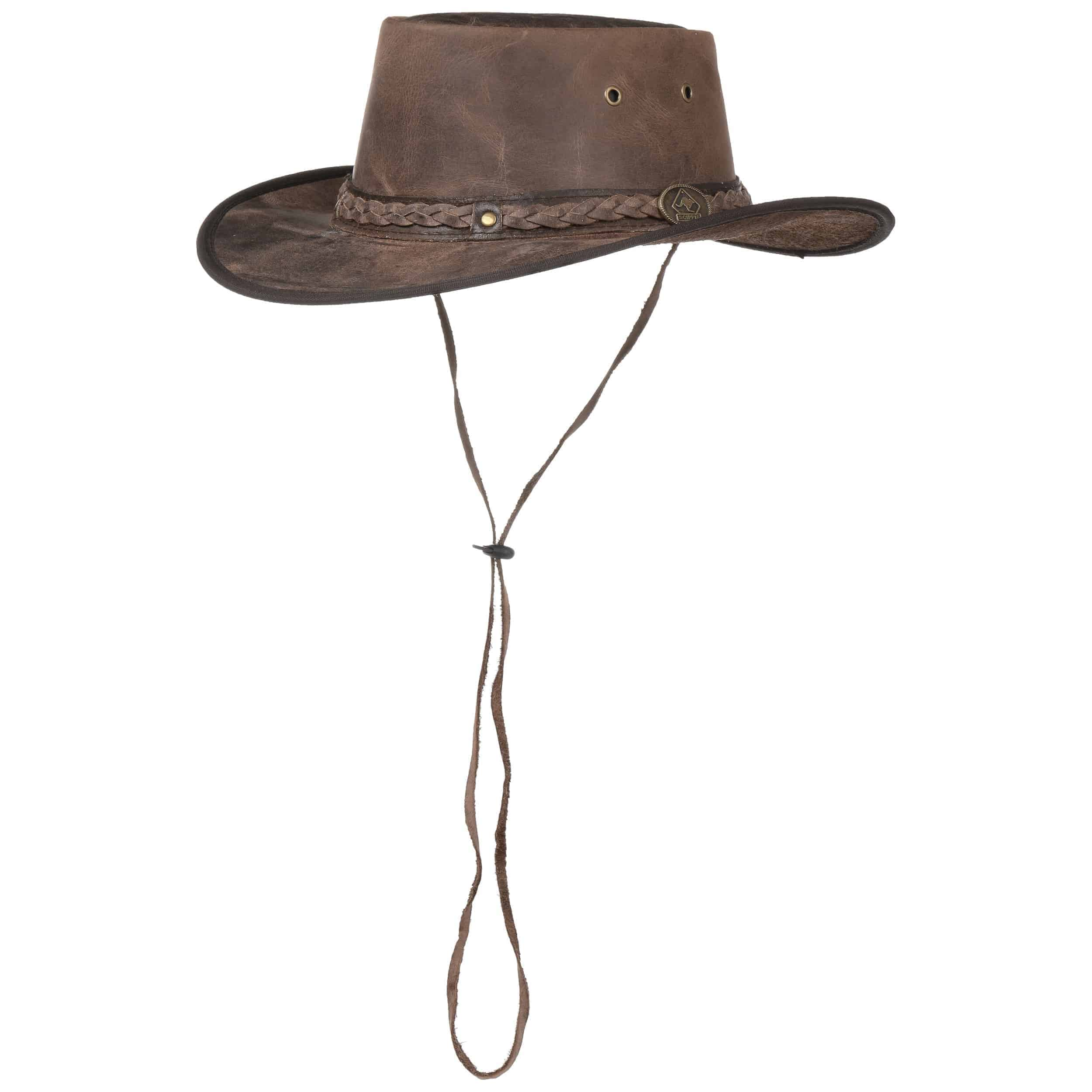 Scippis Mens Cowboy Hat Brown Brown
