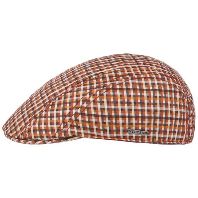 Manatee Cotton Check Flat Cap. by Stetson e3008a1d4304