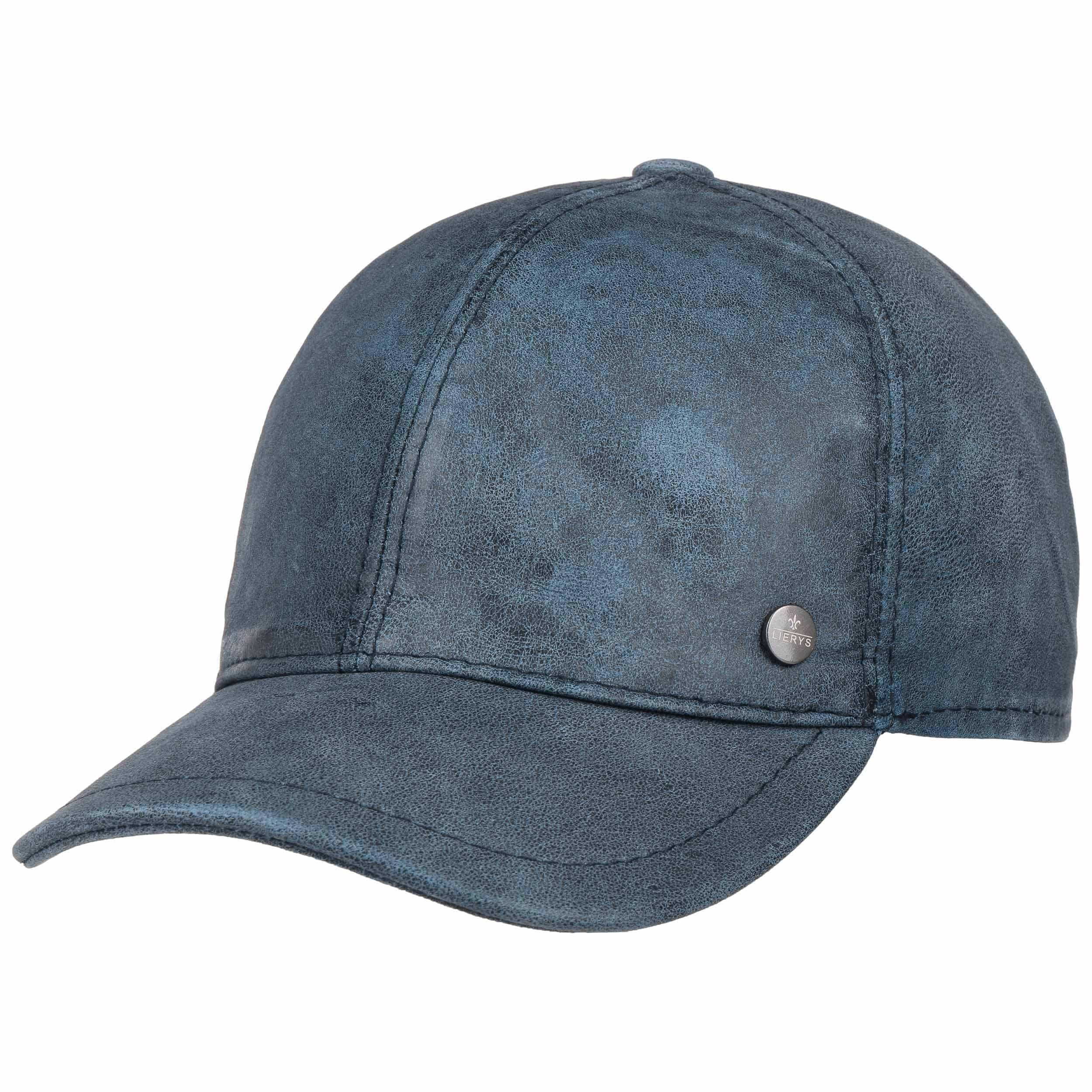 LIERYS Mario Ledercap Baseballcap Cap Basecap Fullcap Lederkappe