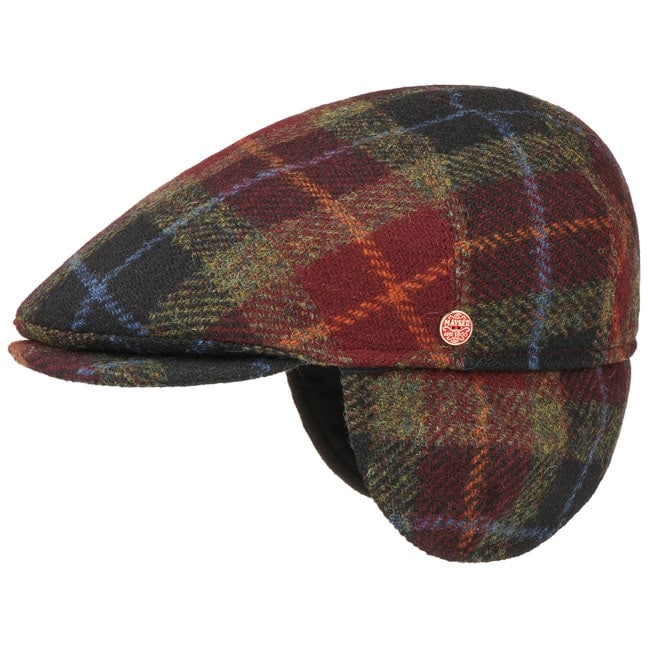 Lierys Ladies/Mens Tweed Winter Peaked Cap Italian-Made Flat Cap Flecked Winter hat with Inner Lining Ivy Cap New-Wool Cap Fall/Winter Flat Cap